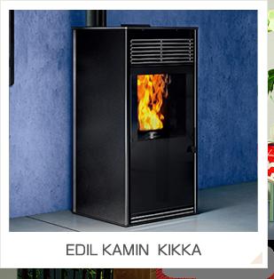 ペレットストーブ EDIL KAMIN(エディルカミン) KIKKA/KIKKA PLUS (キッカ、キッカプラス)